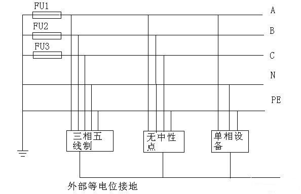 三相五线制接线图 - 电工技术