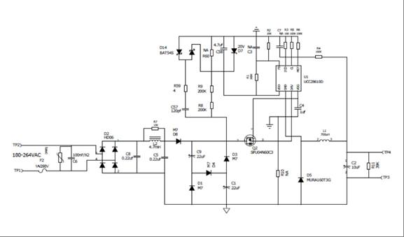 10W非隔离LED驱动电源的设计
