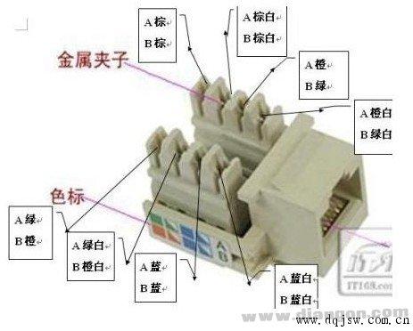 网络插座接线-电话插座