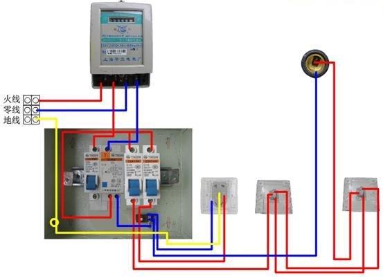一种典型的家庭电路安装接线图