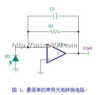 如何为互阻抗放大器电路选择组件