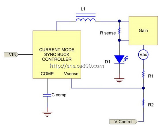 电源技巧:电流模式控制简化了对降压led稳压器的补偿